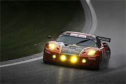 An action shot taken during a famous 24h race in Europe ... over the fence