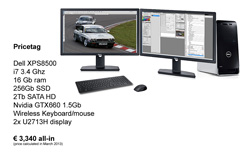 A high end configuration based on the DELL XPS8500 system comes in at only 3,340 Euro